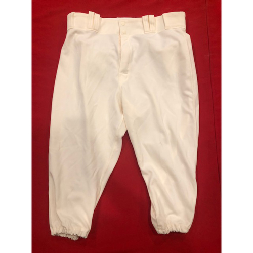 Raisel Iglesias -- Game-Used Pants -- 1912 Throwback Game -- Dodgers vs. Reds on May 19, 2019 -- Size: 35-39-19