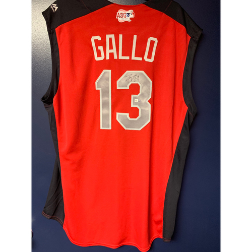 Photo of Joey Gallo 2019 Major League Baseball Workout Day Autographed Jersey