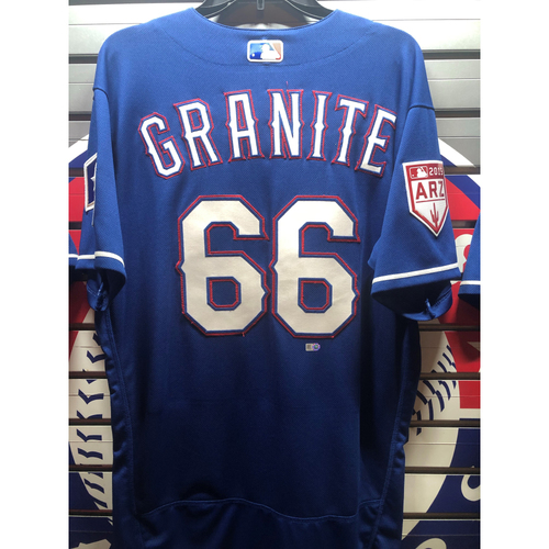 Zack Granite Blue Team-Issued Spring Training Jersey