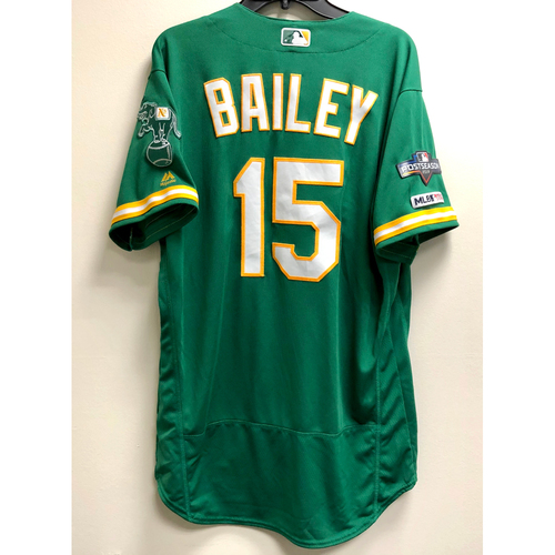 Photo of Homer Bailey Team Issued 2019 A.L. Wild Card Jersey w/ Postseason Patch