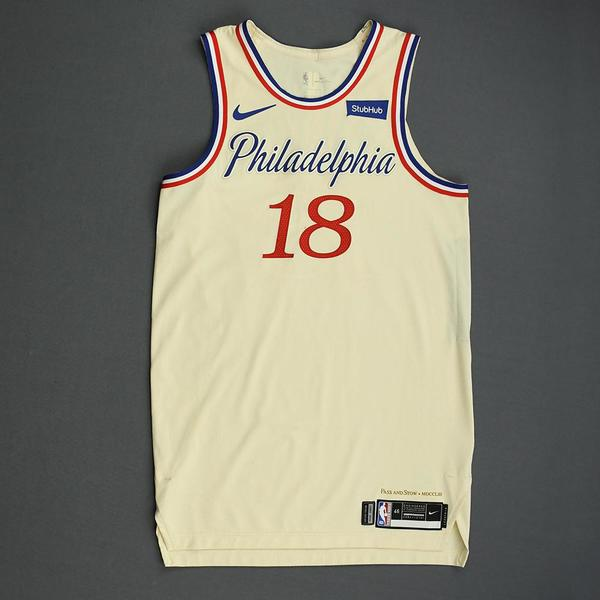 Image of Shake Milton - Philadelphia 76ers - Christmas Day' 19 - Game-Worn City Edition Jersey - Dressed, Did Not Play