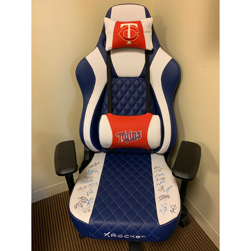 Photo of Autographed Twins X Rocker Gaming Chair