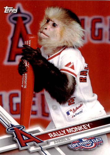 Photo of 2017 Topps Opening Day Mascots #M3 Rally Monkey