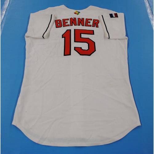 Photo of 2006 Inaugural World Baseball Classic: Maikel Benner Game-worn Team Netherlands Home Jersey