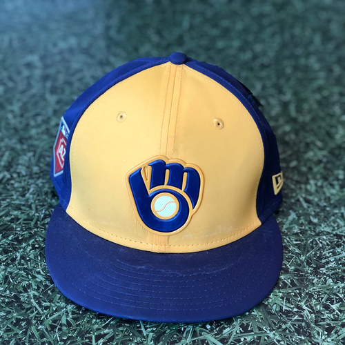 Photo of Team-Issued Cap: Christian Yelich #22 Spring Training 2018