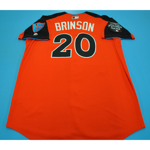 Photo of Game-Used Batting Practice Jersey - 2017 All-Star Futures Game - Lewis Brinson - Size 48 - Only Worn During Batting Practice