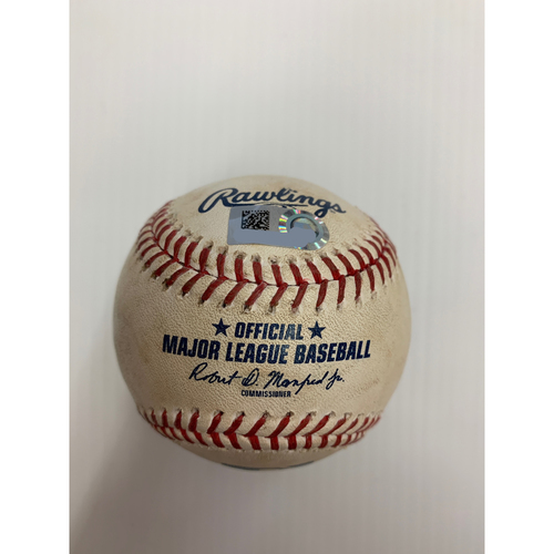 Photo of Game Used Baseball: Pitcher: James Karinchak, Batter: Jose Abreu - Strikeout - Top 7 - 7-28-2020 vs. CWS