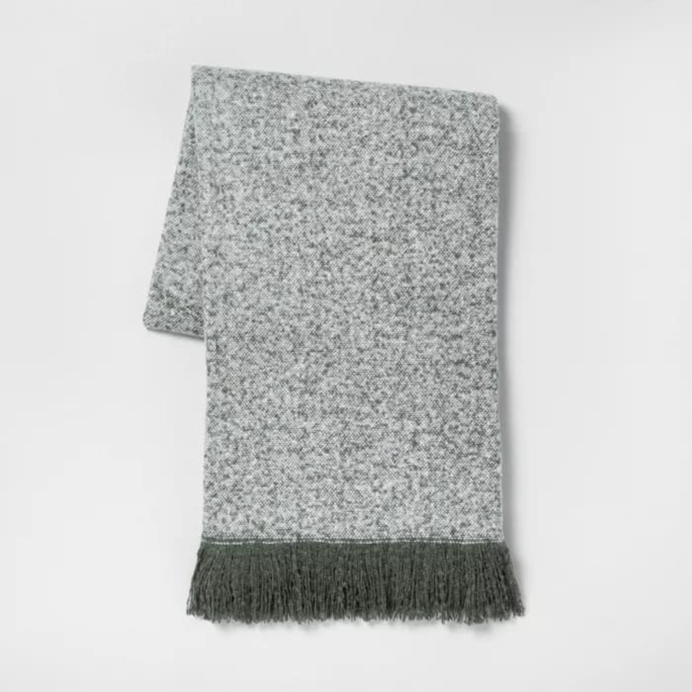"""Photo of """"X70"""" Throw Blanket Gray Hearth & Hand with Magnolia"""