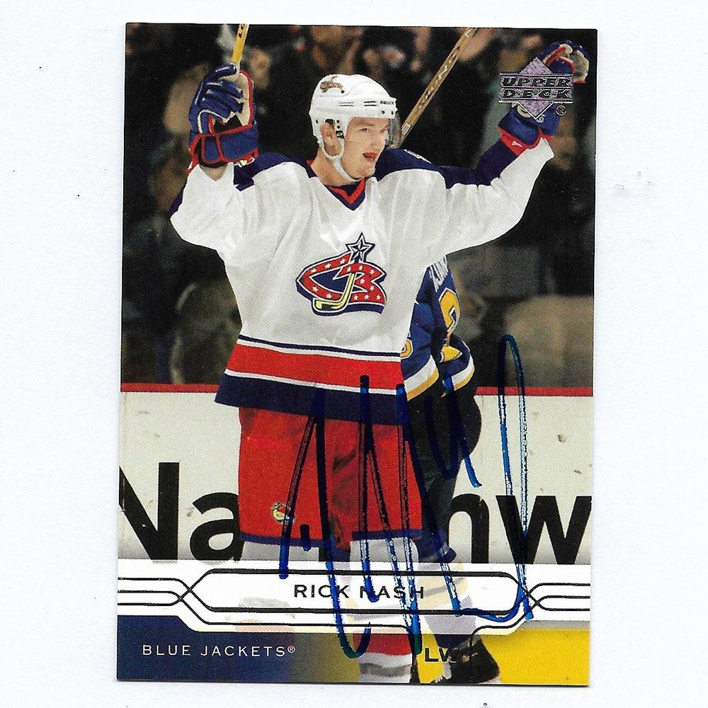 Rick Nash Autographed 2004-05 Upper Deck Hockey Card