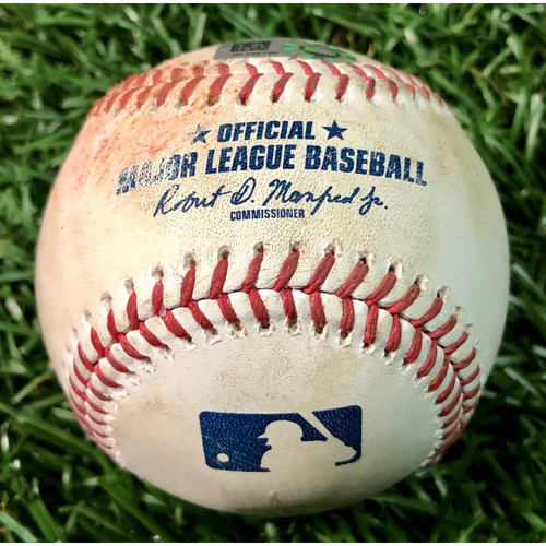 Photo of Game Used Baseball: Jalen Beeks strikes out Anthony Santander - Jalen Beeks (H, 1.1IP, 1 SO) - August 25, 2020 v BAL