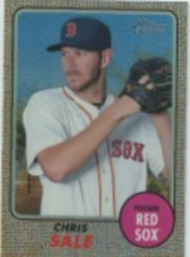 Photo of 2017 Topps Heritage Chrome Refractors #THC405 Chris Sale