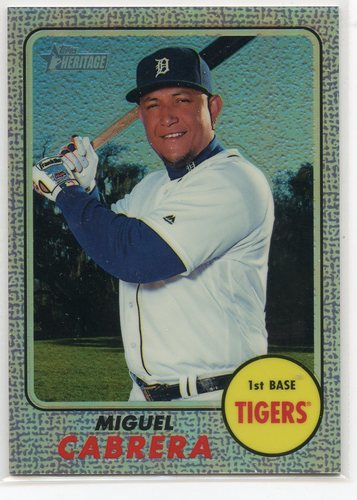 Photo of 2017 Topps Heritage Chrome Purple Refractors #THC418 Miguel Cabrera