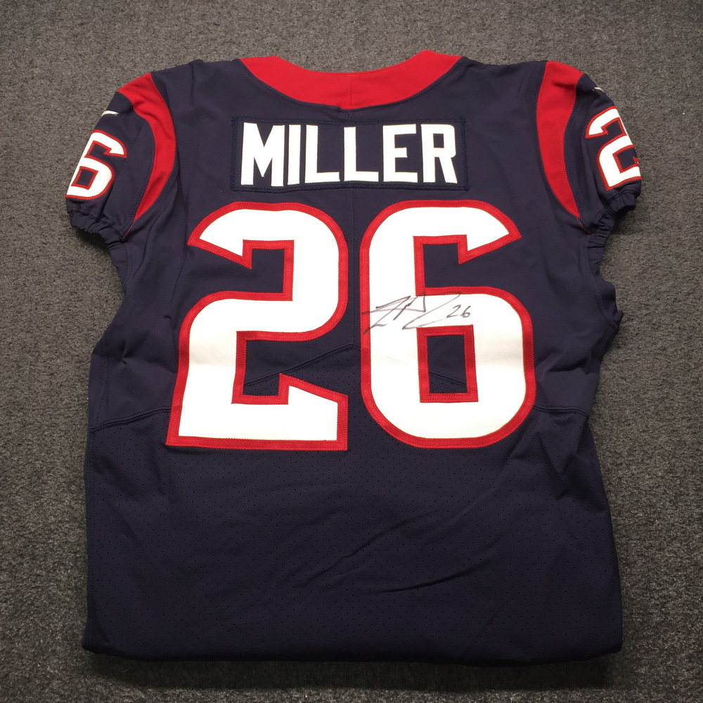 Crucial Catch - Texans Lamar Miller Signed Game Used Jersey Size 42 (10/7/18)