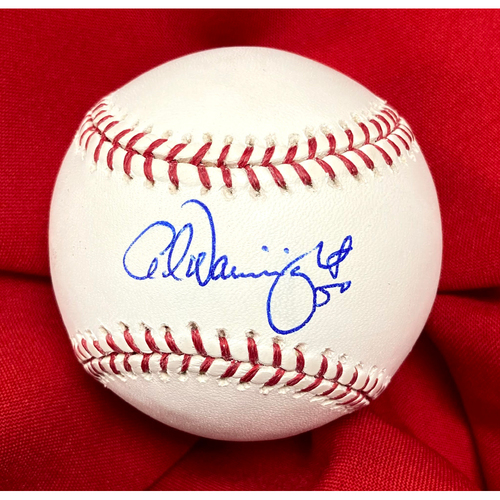 Photo of Adam Wainwright Autographed 2011 World Series Baseball