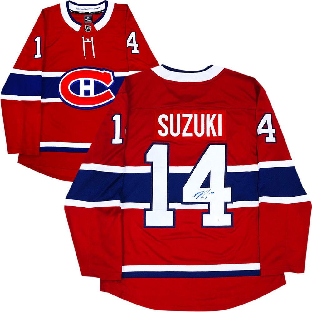 Nick Suzuki Autographed Montreal Canadiens Fanatics Jersey