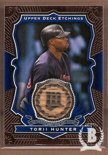 Photo of 2004 Upper Deck Etchings Game Bat Blue #HU Torii Hunter SP