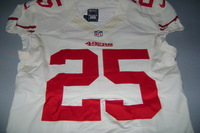 49ERS - TARELL BROWN PRACTICE WORN 49ERS JERSEY (2012) JERSEY IS WASHED