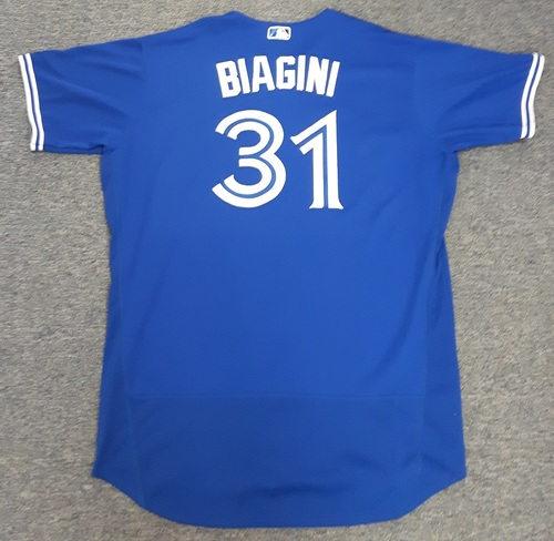 030eb1979 Photo of Authenticated Game Used Jersey -  31 Joe Biagini. July 29