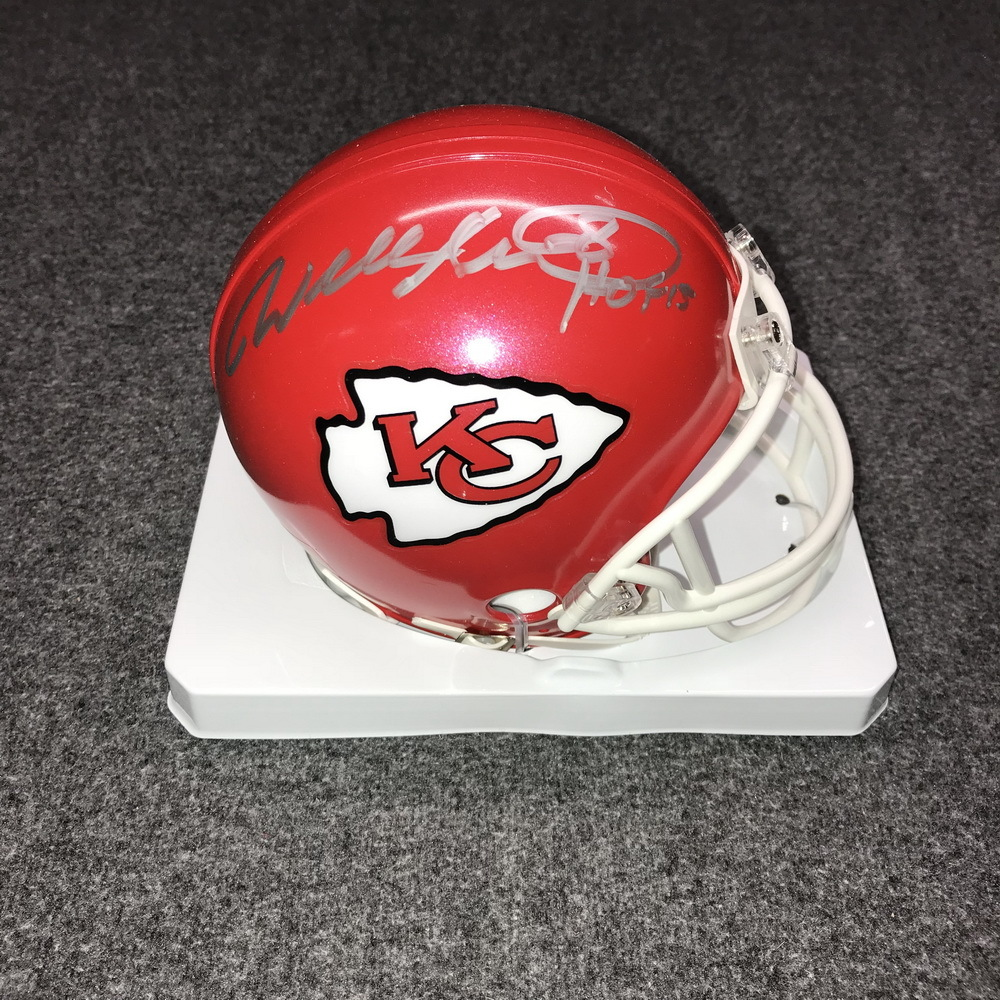 HOF - CHIEFS WILL SHIELDS SIGNED CHIEFS MINI HELMET