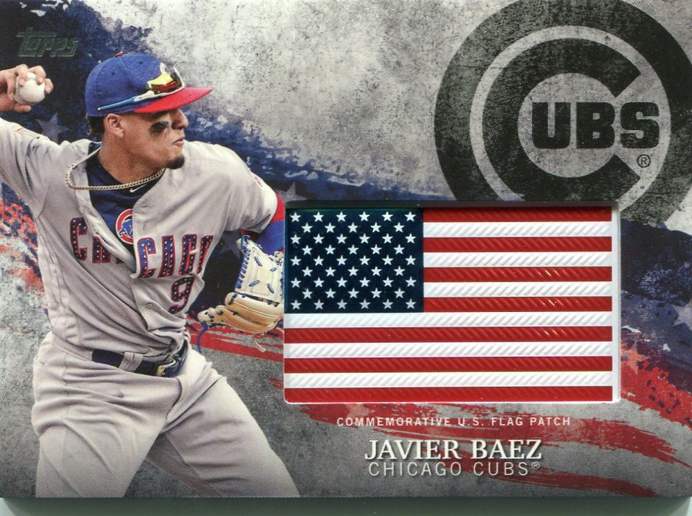 2018 Topps Independence Day U.S. Flag Relics #IDMLJB Javier Baez