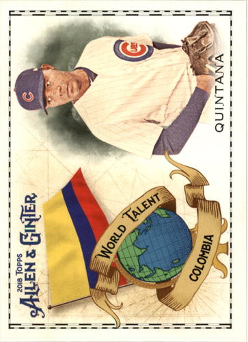 Photo of 2018 Topps Allen and Ginter World Talent #WT7 Jose Quintana