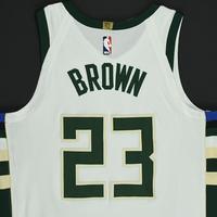 Sterling Brown - Milwaukee Bucks - Game-Worn Rookie Debut Jersey - 2017-18 Season