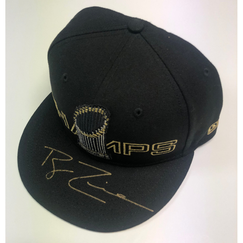 Photo of Ryan Zimmerman Autographed Nationals Black WS Champs Logo Hat