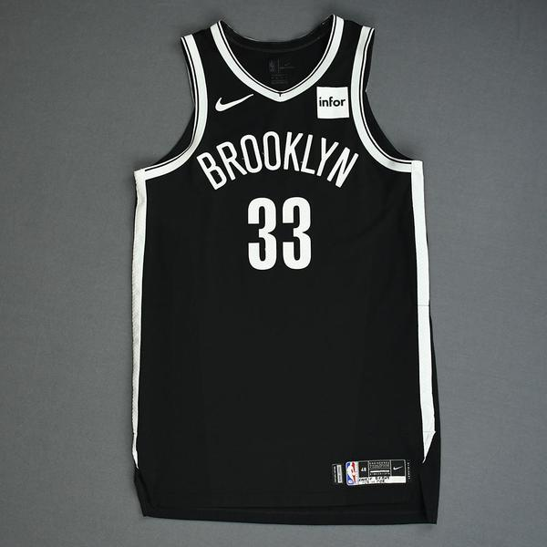 Image of Nicolas Claxton - Brooklyn Nets - Game-Worn Icon Edition Rookie Debut Jersey - 2019-20 Season