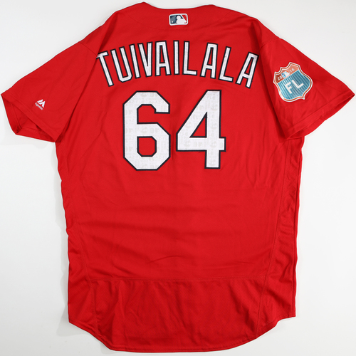 Photo of 2016 Spring Training - Spring Training Game Used Jersey - Sam Tuivailala (Cardinals)- Size- 48