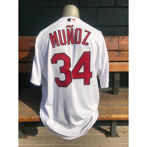 Photo of Cardinals Authentics: Yairo Munoz Game Worn Home Jersey