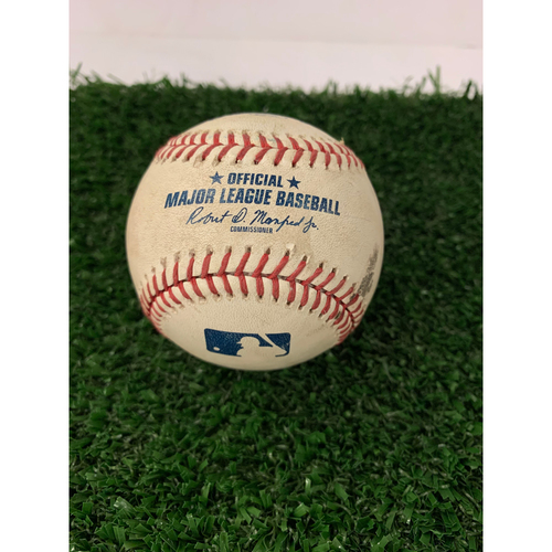 Photo of Josh Donaldson Game Used Hit Double RBI Baseball - April 26, 2019