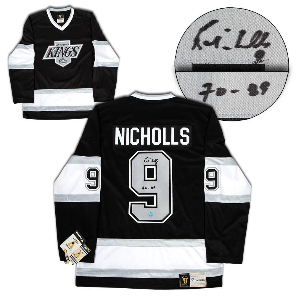 Bernie Nicholls Los Angeles Kings Autographed Fanatics Vintage Hockey Jersey