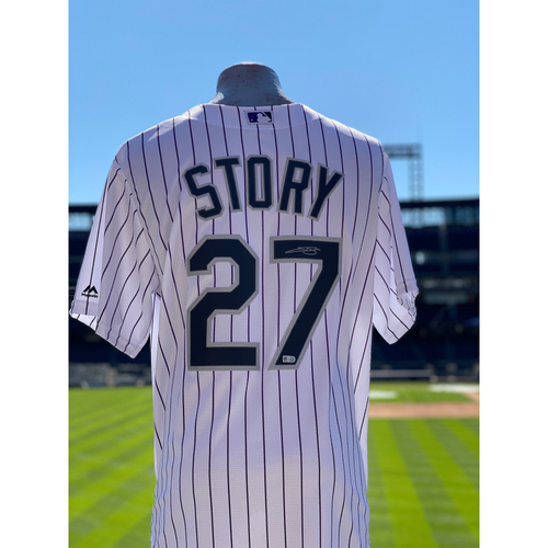 Photo of Colorado Rockies Autographed Home Jersey: Trevor Story - Choose your Size!