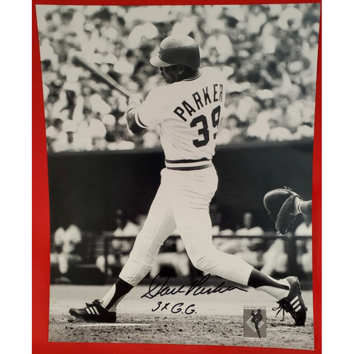 "Photo of Dave Parker Autographed Photo ""3xGG"""