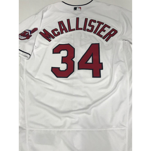 Zach McAllister Team Issued 2018 Home Jersey