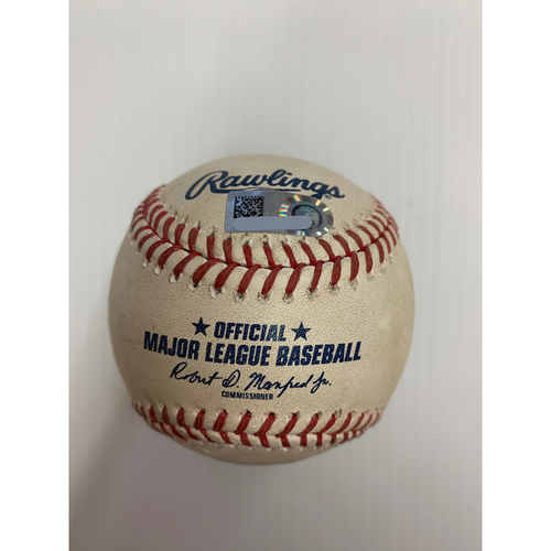 Photo of Game Used Baseball: Pitcher: Richard Lovelady, Batter: Jose Ramirez - Home Run - Bot 6 - 7-26-2020 vs. KC