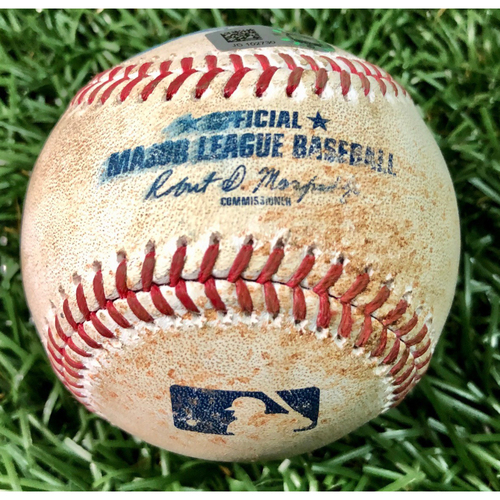 Photo of Game Used Baseball: Manuel Margot single off Jorge Lopez - August 25, 2020 v BAL