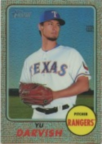 Photo of 2017 Topps Heritage Chrome Refractors #THC416 Yu Darvish