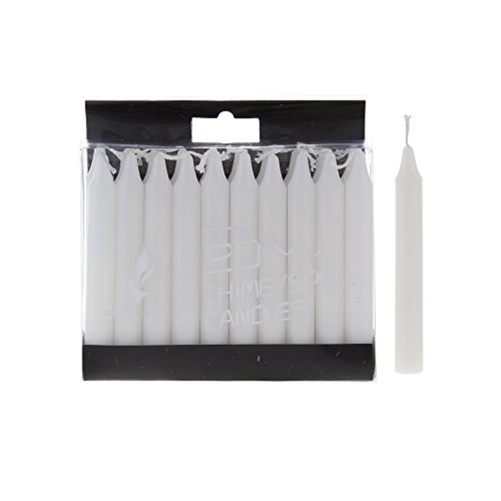 Photo of Mega Candles 20 pcs Unscented White Mini Taper Candle, 4 Inch Tall x 1/2 Inch Diameter, Great for Casting Chimes, Rituals, Spells, Vigil, Witchcraft, Wiccan Supplies, Wax Play & More