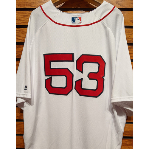 Photo of Coach Craig Bjornson #53 Team Issued Home White Jersey