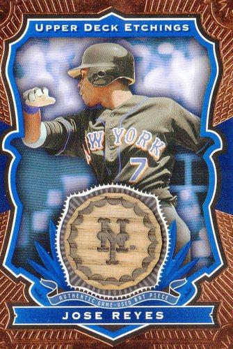 Photo of 2004 Upper Deck Etchings Game Bat Blue #JR Jose Reyes