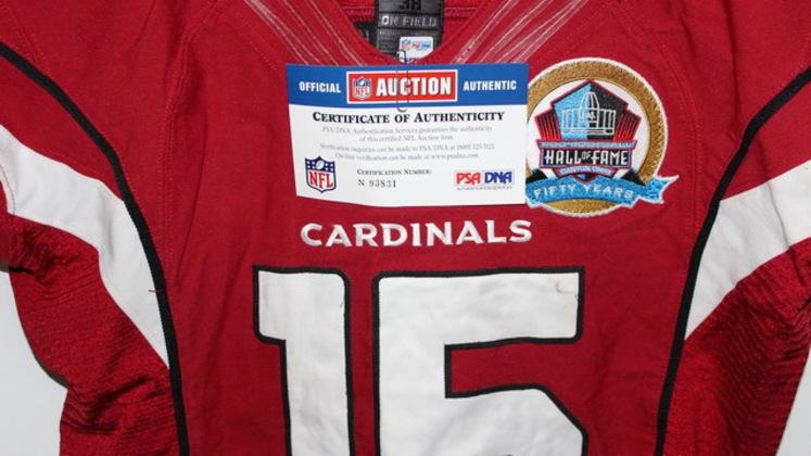 NFL Auction | MICHAEL FLOYD GAME WORN CARDINALS JERSEY DECEMBER 16 ...