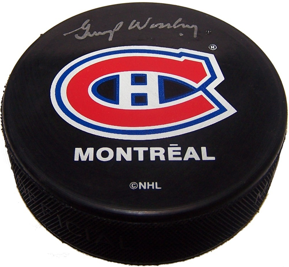 Gump Worsley (deceased) Autographed Montreal Canadiens Puck