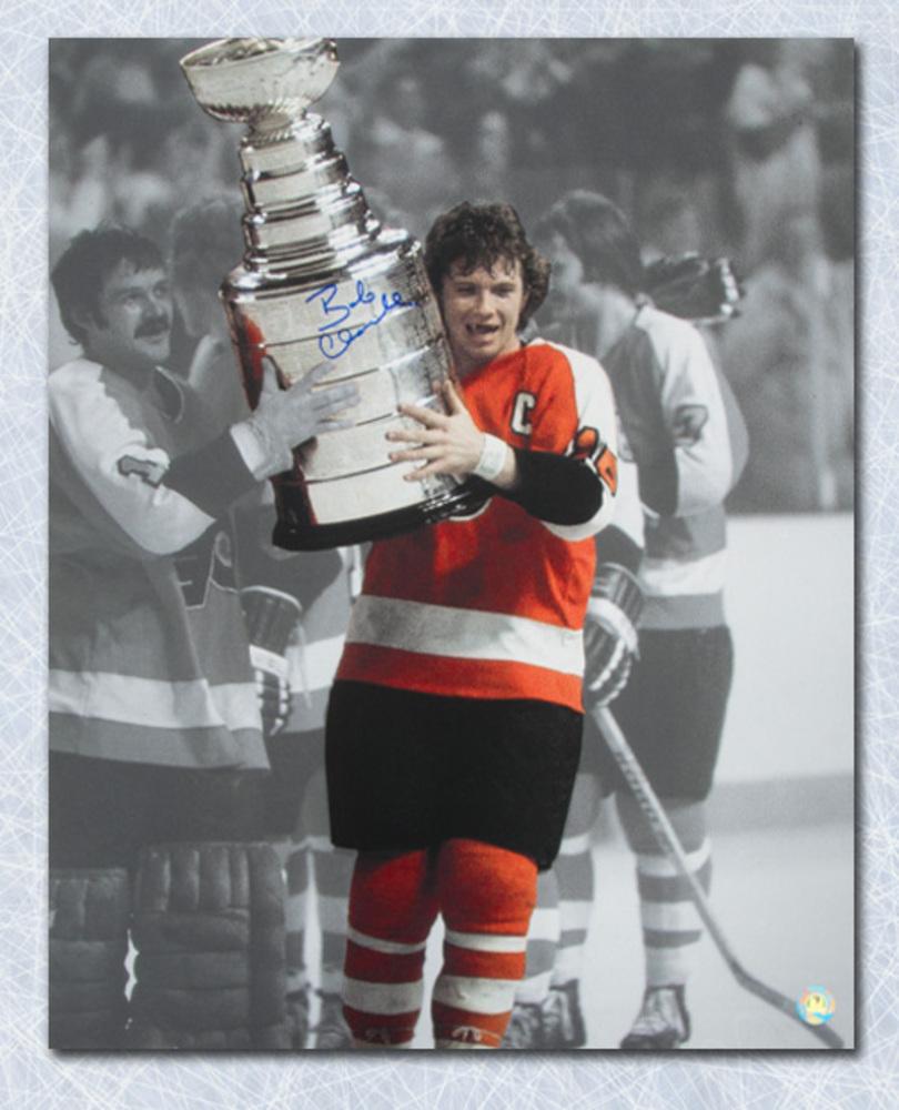 Bobby Clarke Philadelphia Flyers Autographed Stanley Cup Spotlight 16x20 Photo
