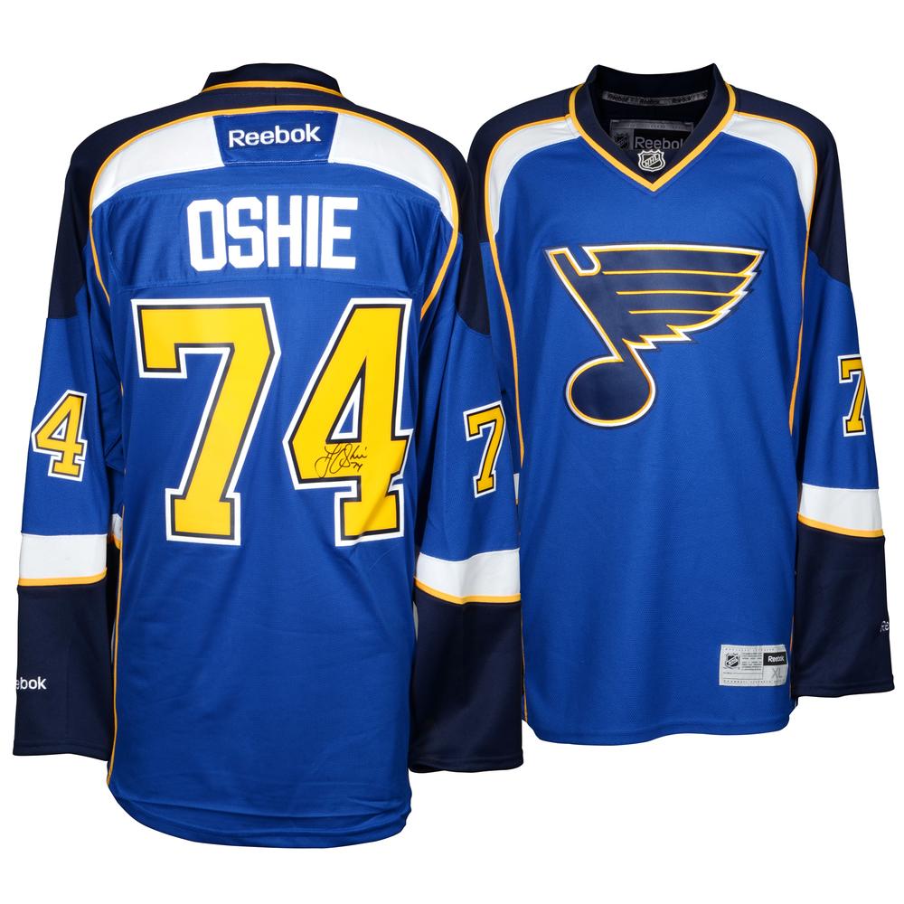 T.J. Oshie St. Louis Blues Autographed Reebok Premier Home Jersey