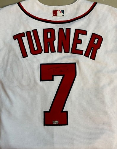 Photo of Trea Turner Autographed Nationals Authentic Jersey