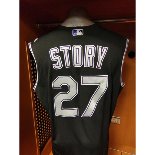 low priced 57315 e3ab0 MLB Auctions | Colorado Rockies Trevor Story 2016 Rookie ...