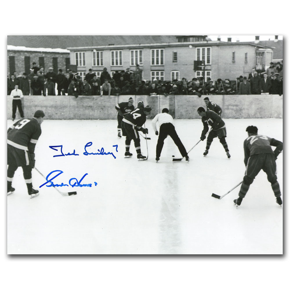 Gordie Howe & Ted Lindsay Autographed Detroit Red Wings 8X10 Photo