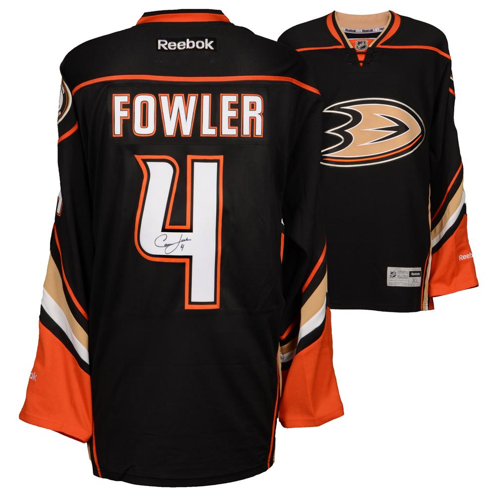 7dfc11a6c ... new style cam fowler anaheim ducks autographed black reebok premier  jersey aafac 8f44b