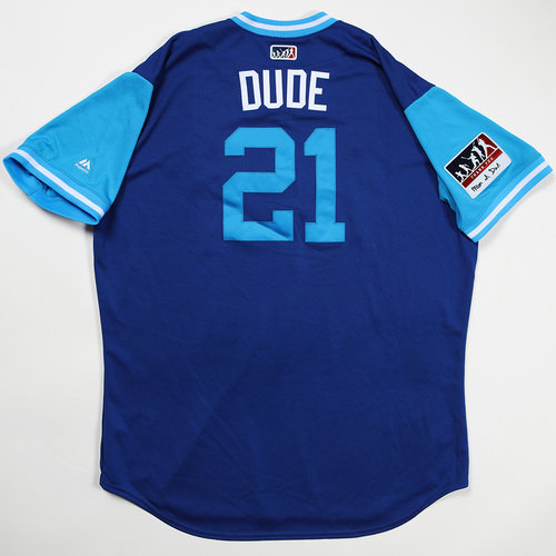 "Photo of Lucas ""Dude"" Duda Kansas City Royals Game-Used Jersey 2018 Players' Weekend Jersey"